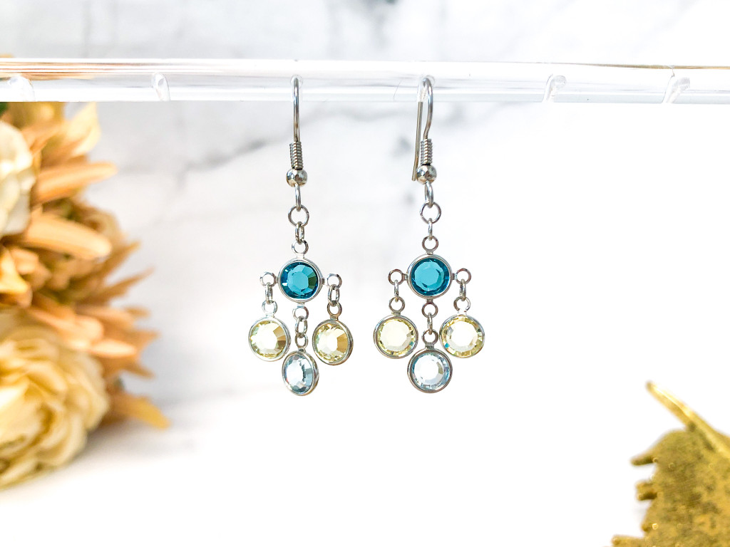 Spring Chanel Chandelier Earrings made with Swarovski Crystals