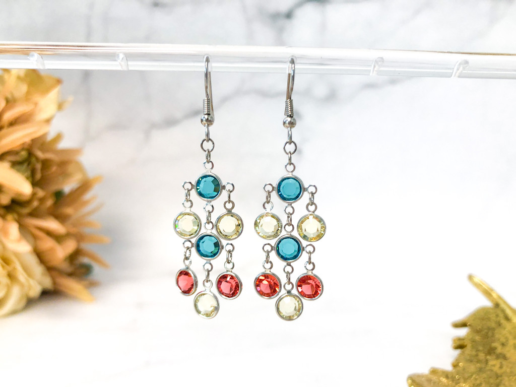 Fancy Chanel Chandelier Earrings made with Swarovski Crystals