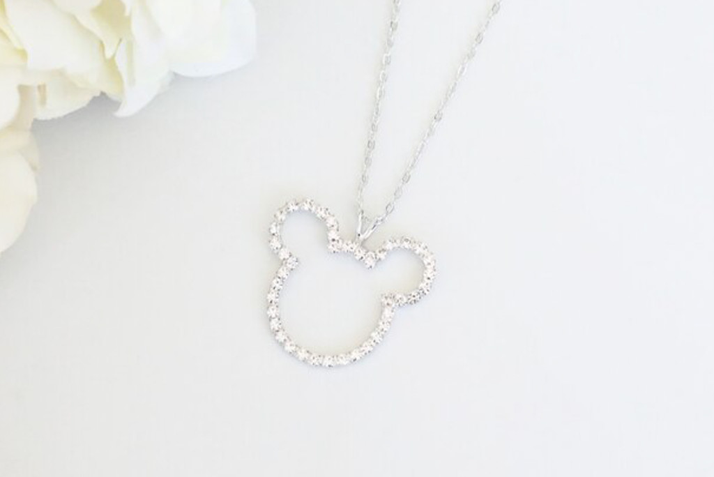 Boy Mouse Crystal Rhinestone Necklace | One Piece