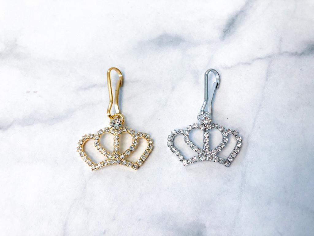 Rhinestone Crown Charm | Two Pieces