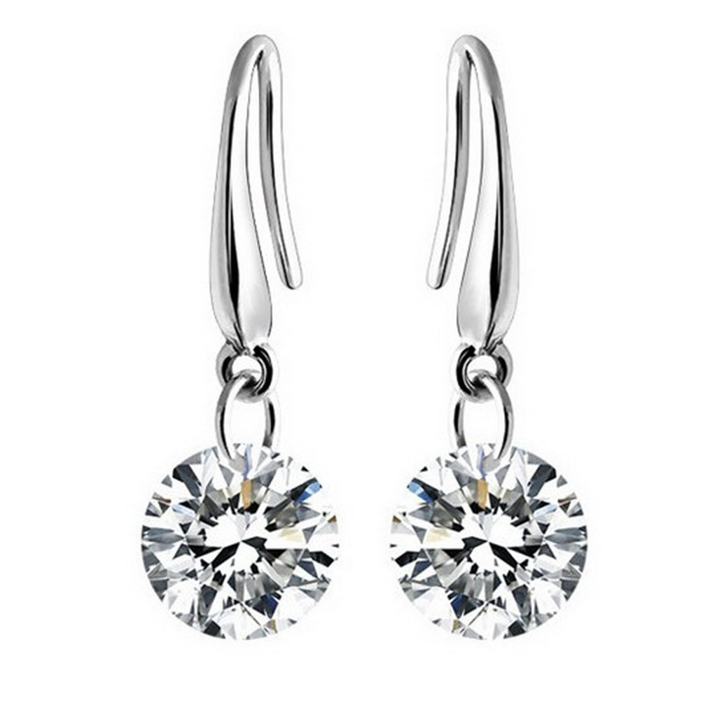 CZ Enchanted Tears Earrings | Rhodium or Gold