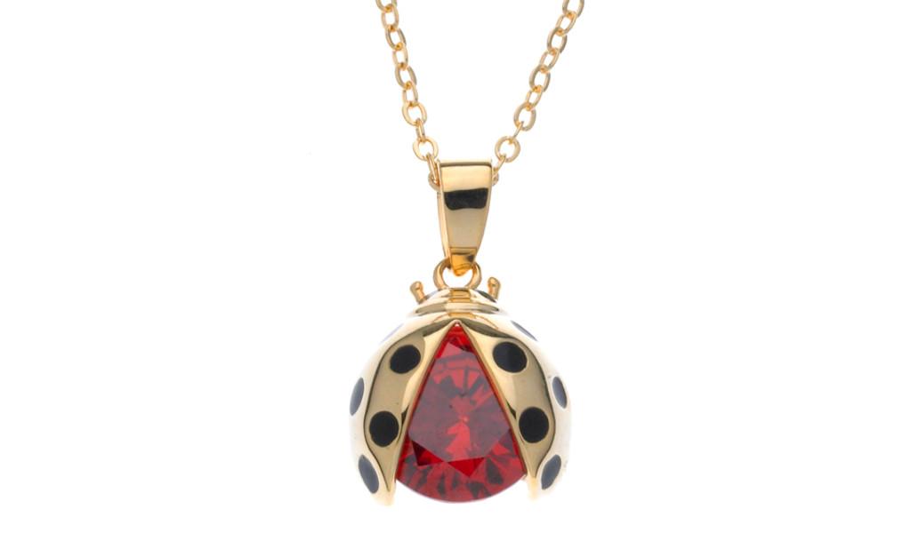 Lady Bug Necklace