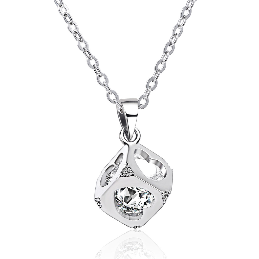 Hearts Cube Necklace