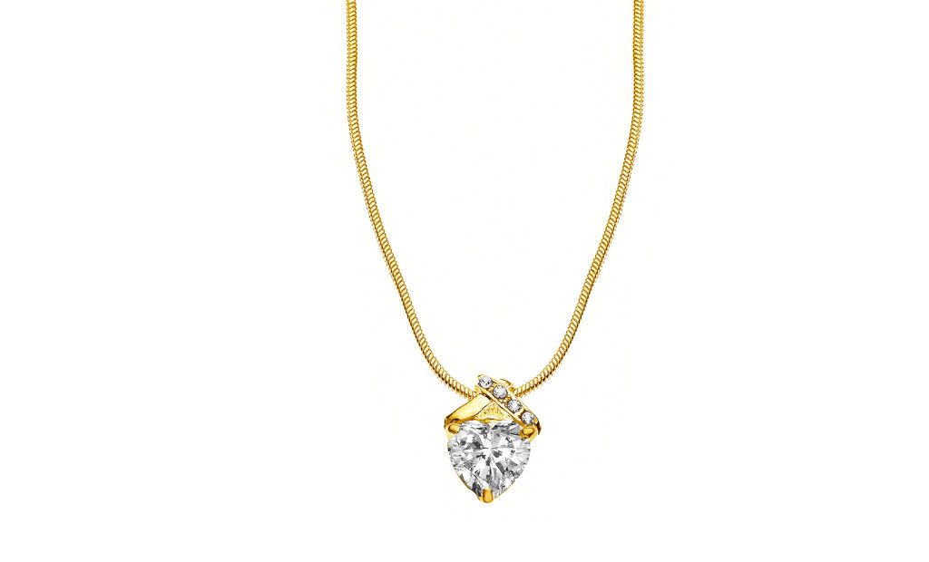 CZ Givenchy Heart Necklace
