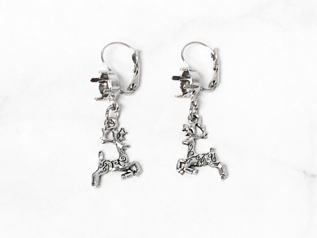 8.5mm | Reindeer Drop Earrings | One Pair