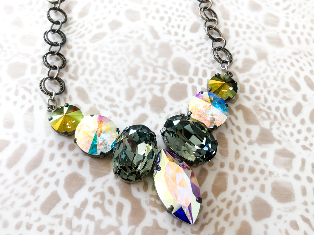 One of a Kind | Statement Necklace made with Swarovski Crystals