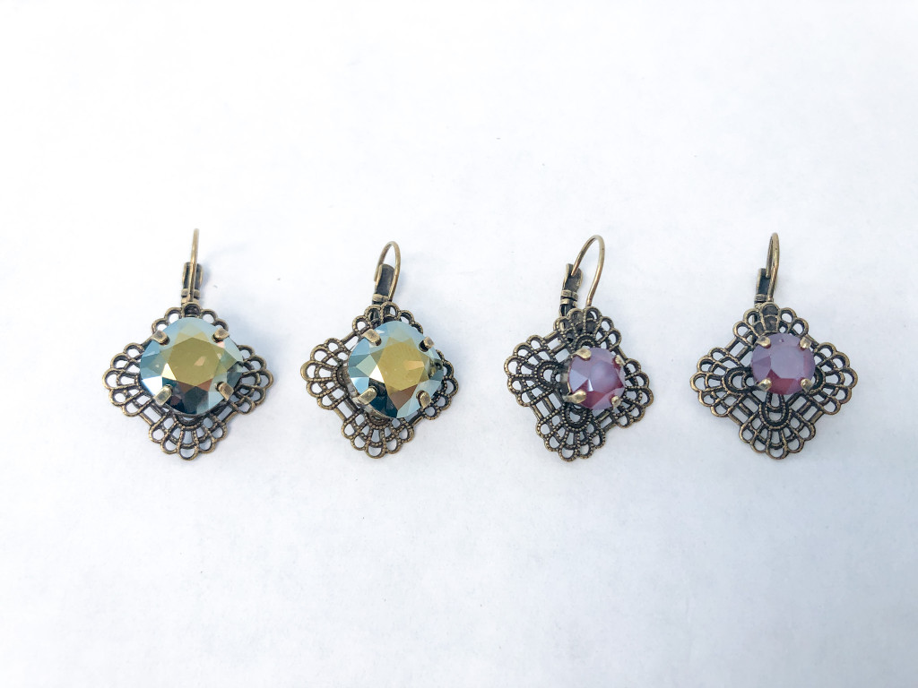 2 Pairs | Limited Edition | 8.5mm and 12mm Finished Filigree Earrings