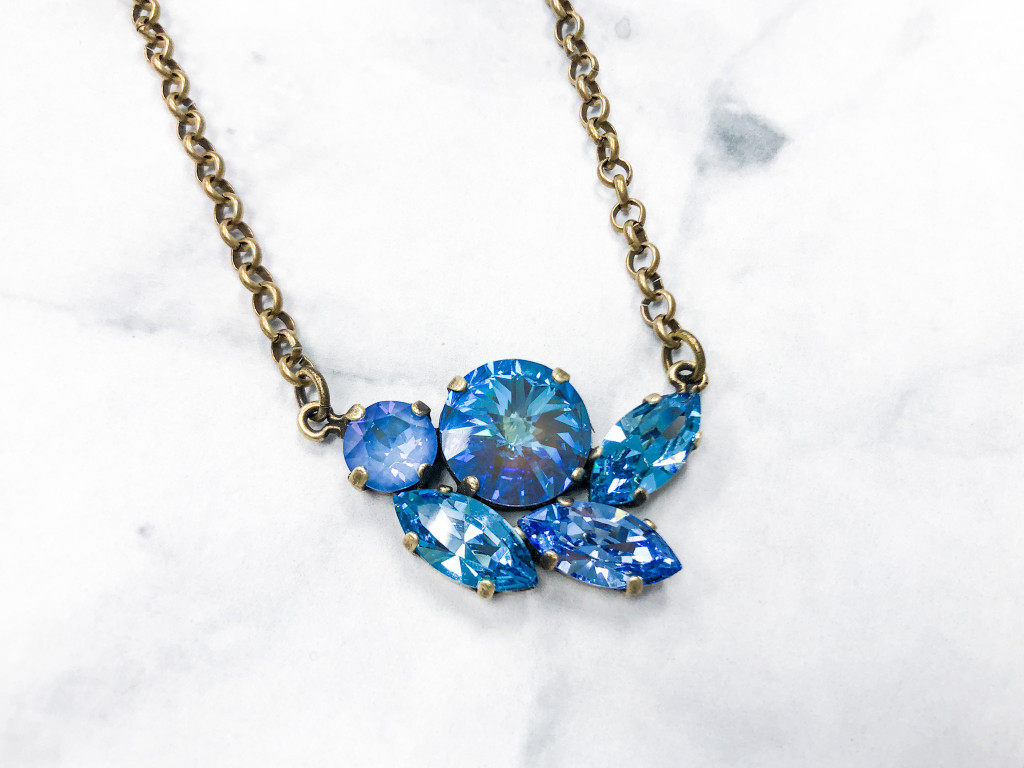 Calming Waters Cluster Necklace