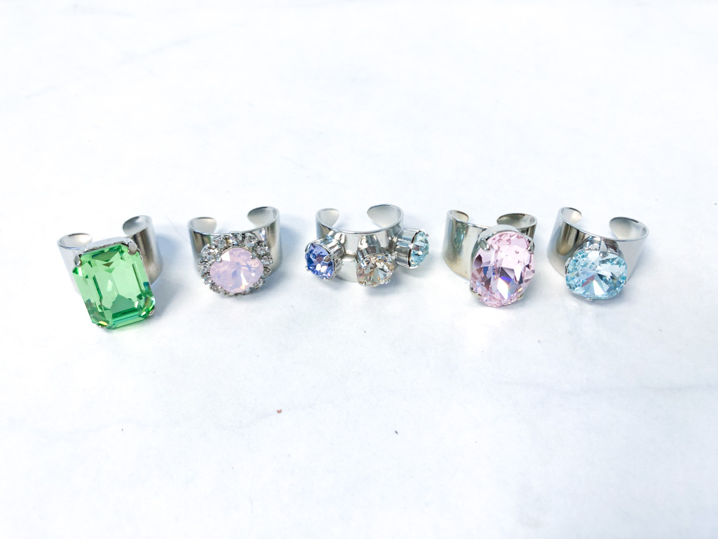 5 Rings | Finished Ring Bundle made with Swarovski Crystals