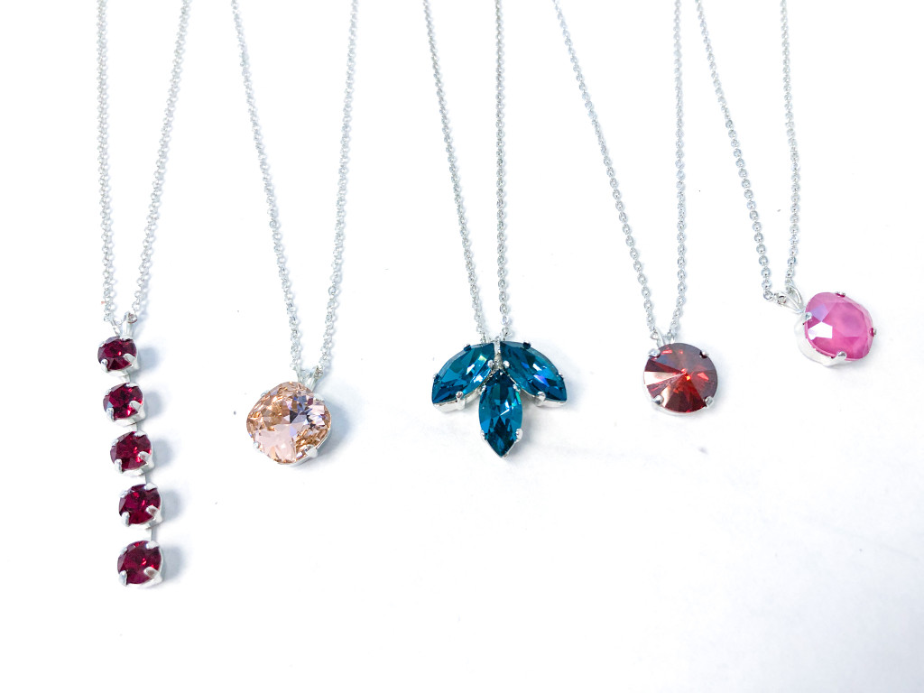 5 Pieces | Finished Necklace Bundle made with Swarovski Crystals