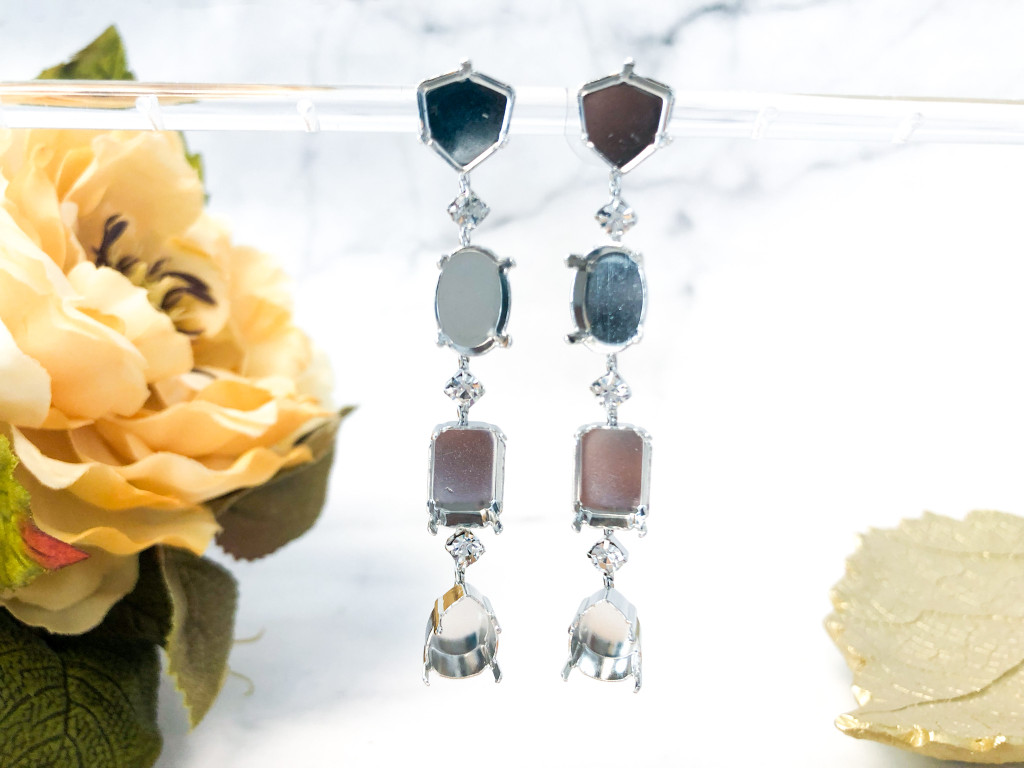 Fancy Dangle Earrings made with Swarovski Crystals