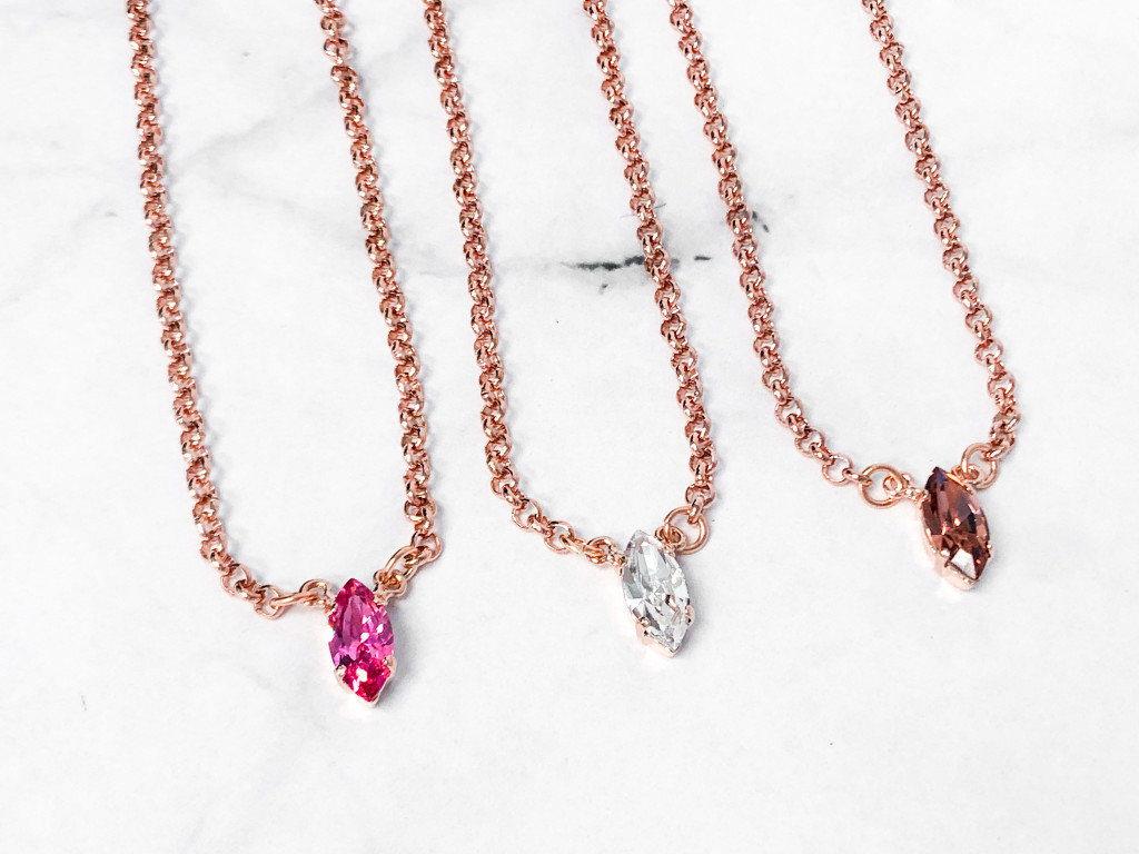 3 Pieces | Rose Gold Navette Necklaces | Finished