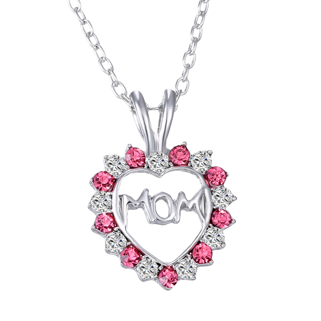 Mother's Day Pink Heart Necklace