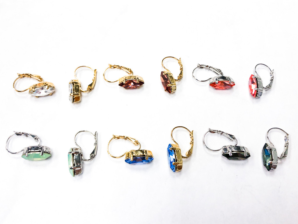 6 Pairs | Navette Earrings | Finished