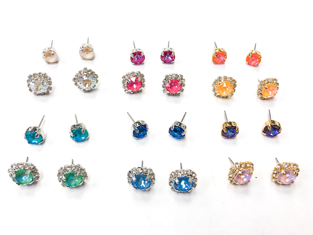 12 Pairs | Assorted 8.5mm Earrings Bundle | Finished