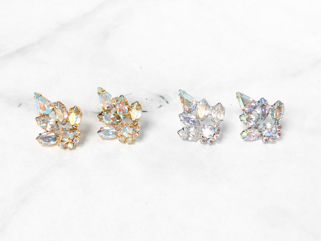 Imperial Statement Studs | Gold or Rhodium | One Pair