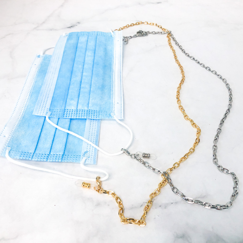 Loop Chain Mask Holder / Convertible Necklace