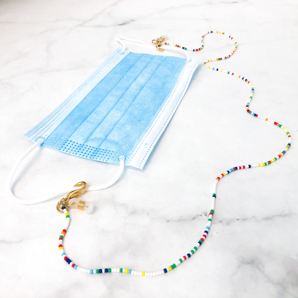 Seed Bead Mask Holder / Convertible Necklace
