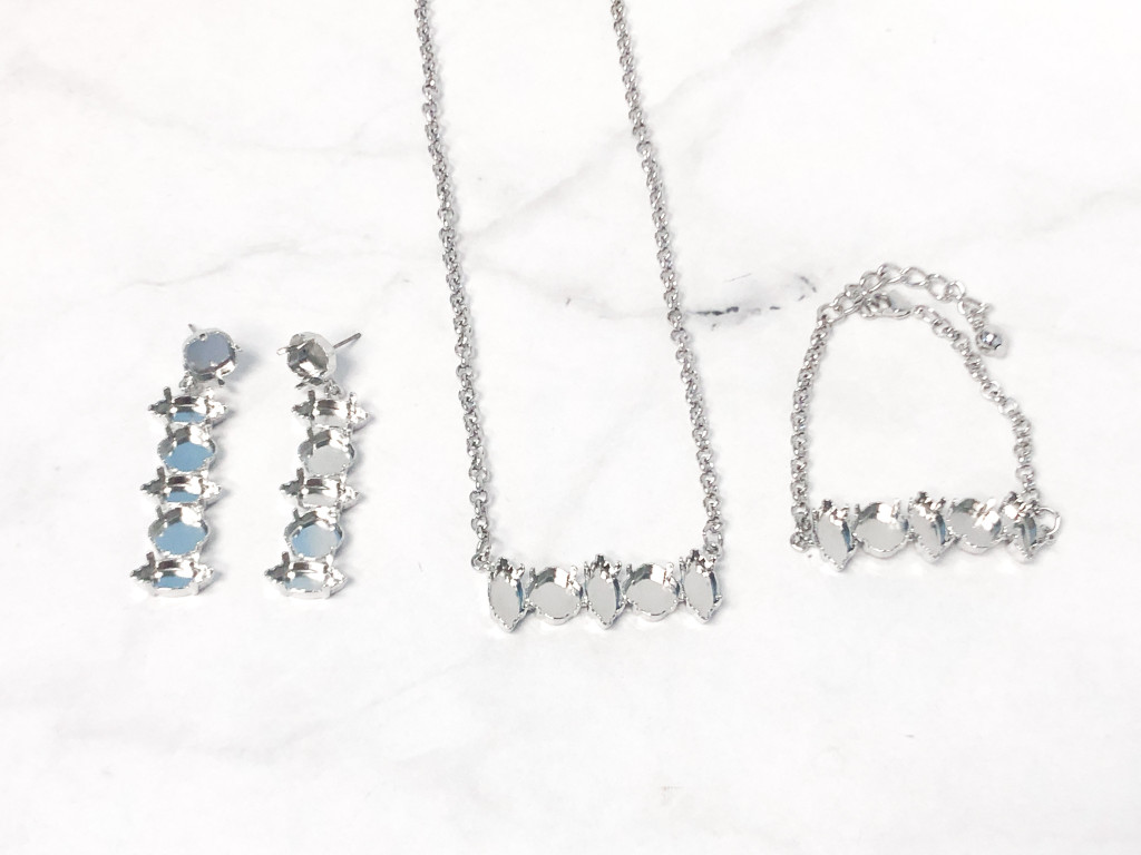 One of a Kind | Navette and Square Bracelet, Earring and Necklace Bundle