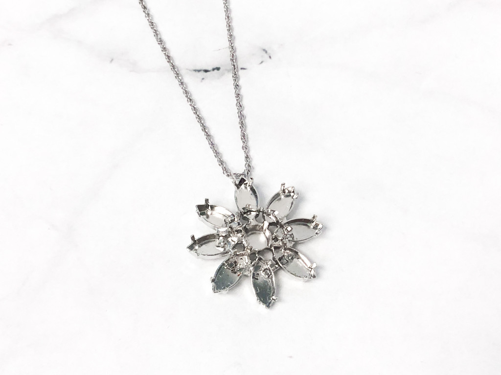 One of a Kind | Navette Floral Necklace