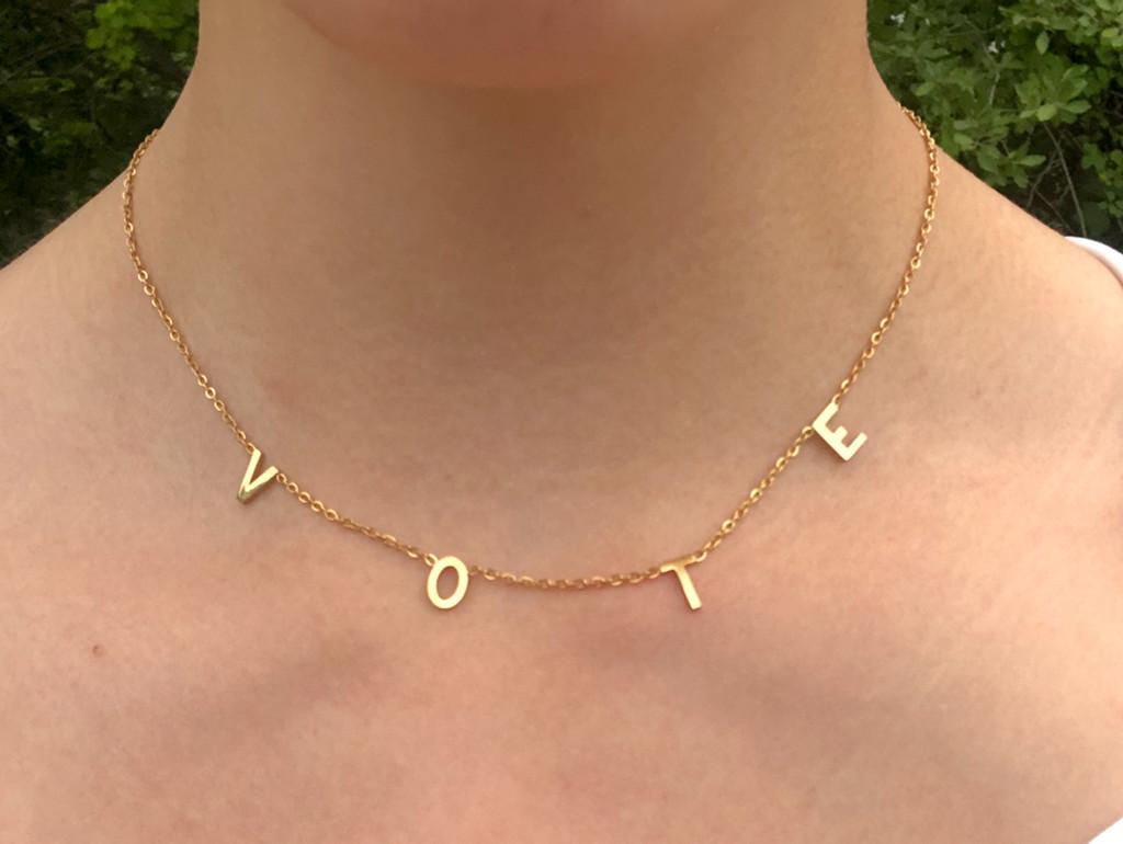 Gold VOTE Necklace | One Piece