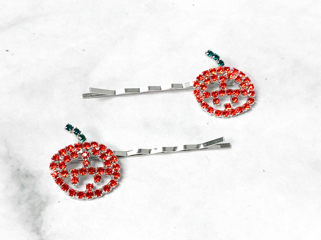 Jack-O-Lantern Bobby Pins | One Pair