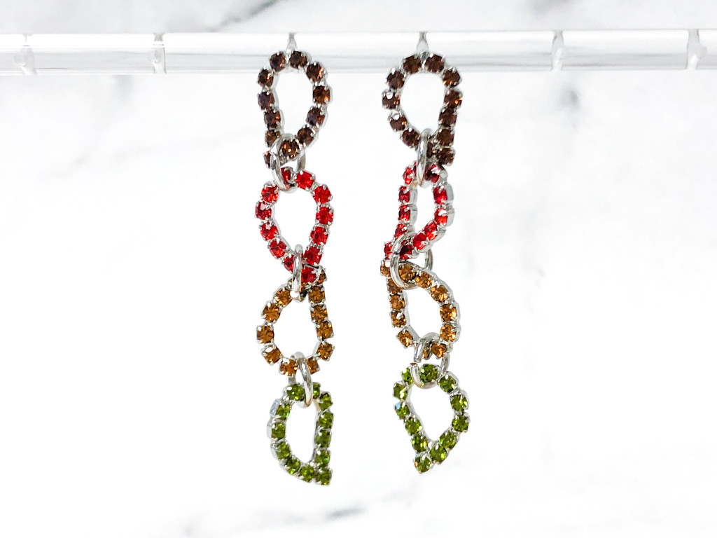 One of a Kind | Fall Leaves 22 Setting Necklace and Matching Earrings