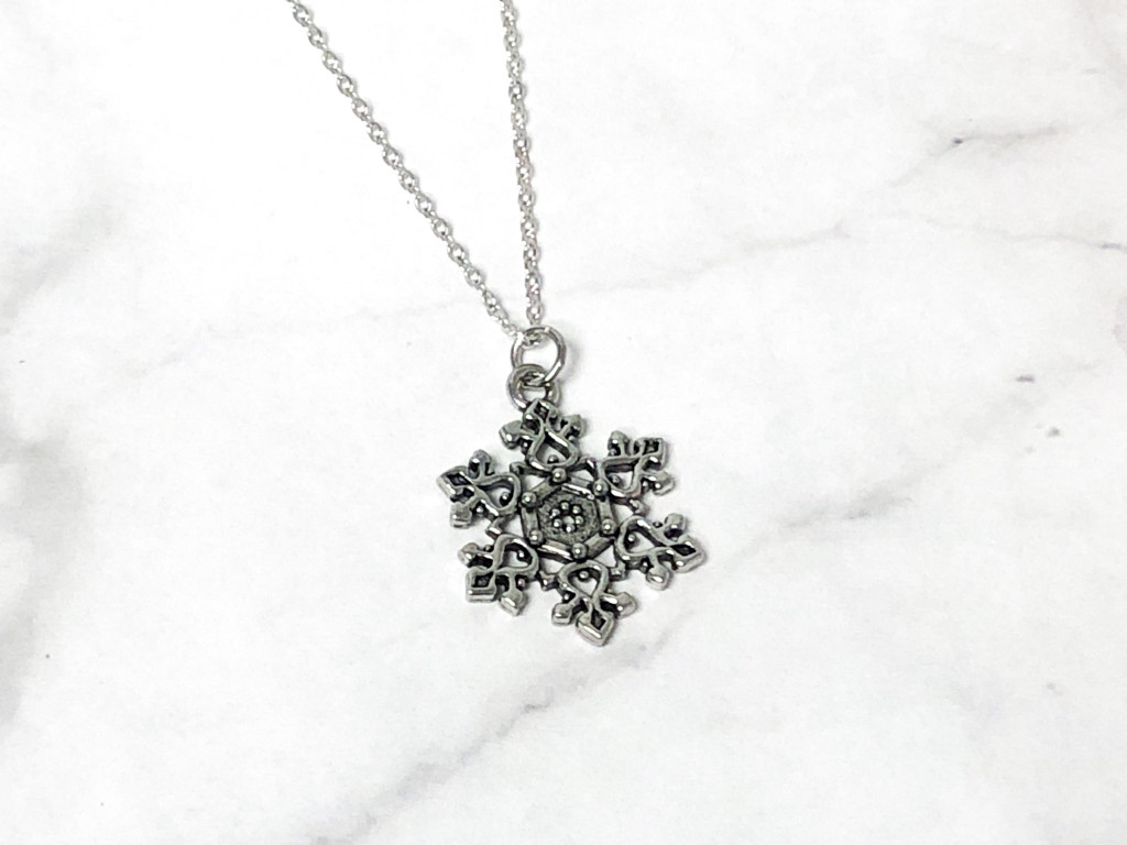 Large Snowflake Charm Necklace | One Piece