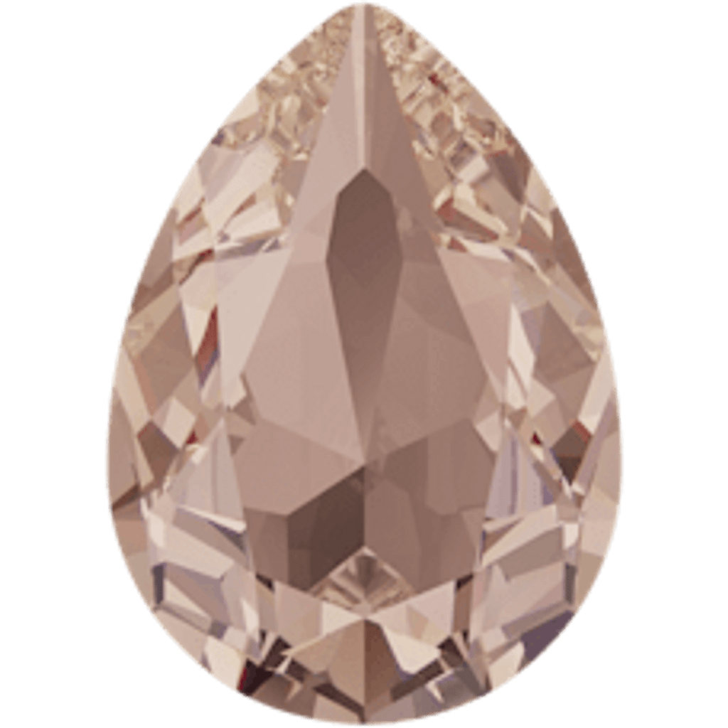 Limited Edition | 14mm x 10mm | Pear | Swarovski Article 4320 | Silk Unfoiled | 3 Pieces