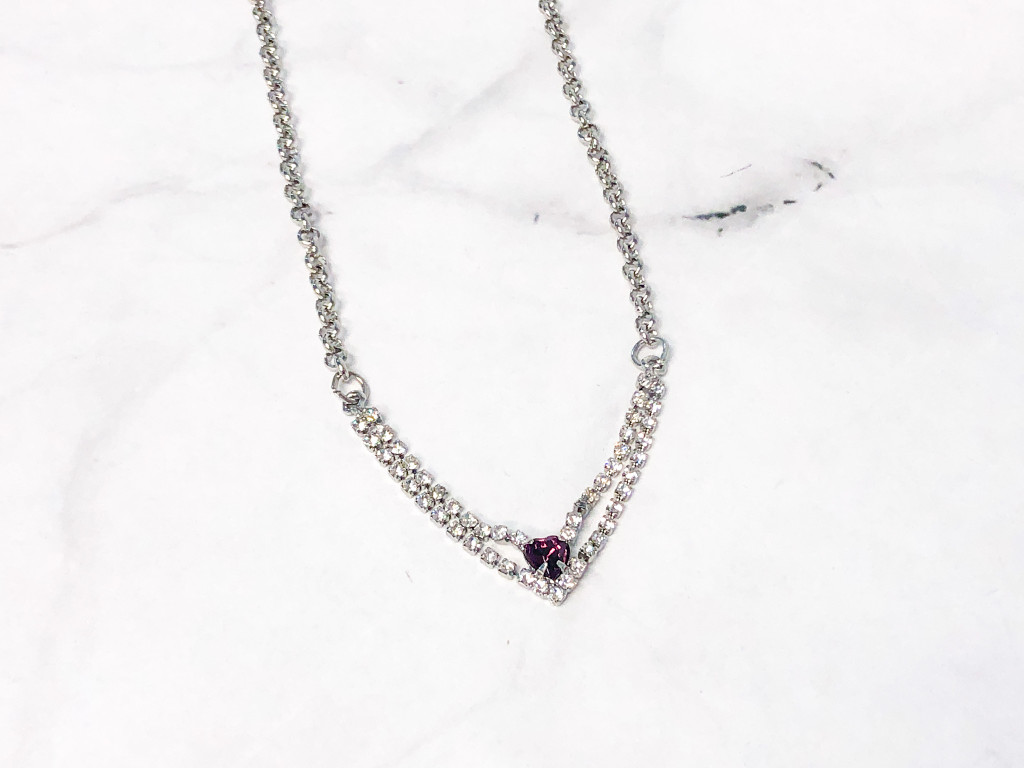 Amethyst Enchanted Heart Necklace