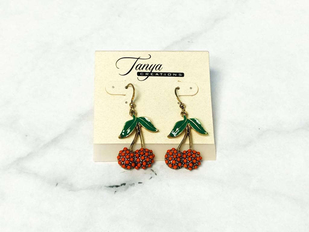 Orange Cherry Earrings