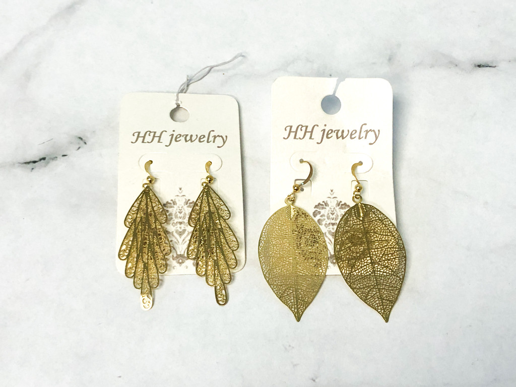 Gold Latice Earrings | 2 Pairs