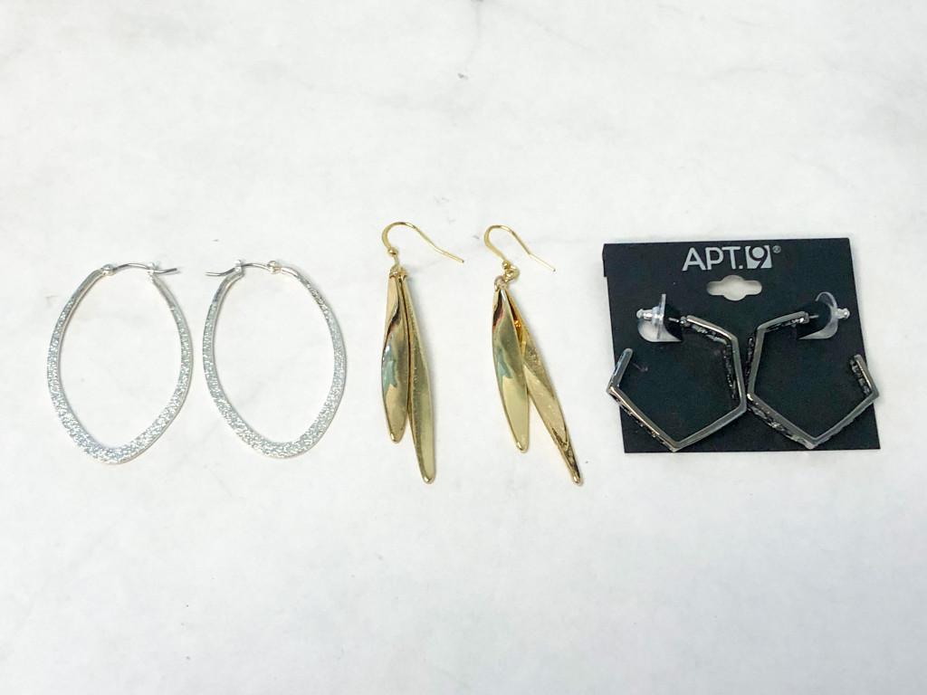 Mixed Metal Earrings | 3 Pairs