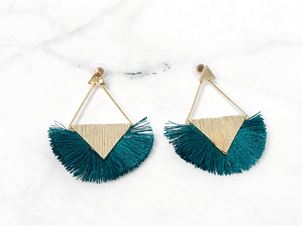 Charming Charlie Teal Fringe Earrings | MSRP $12 | One Pair