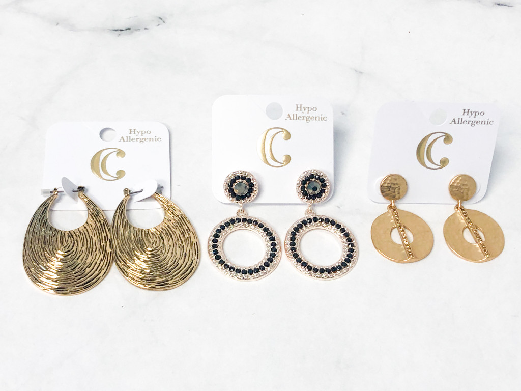 Charming Charlie Gold Earrings Lot | MSRP $34 | 3 Pairs