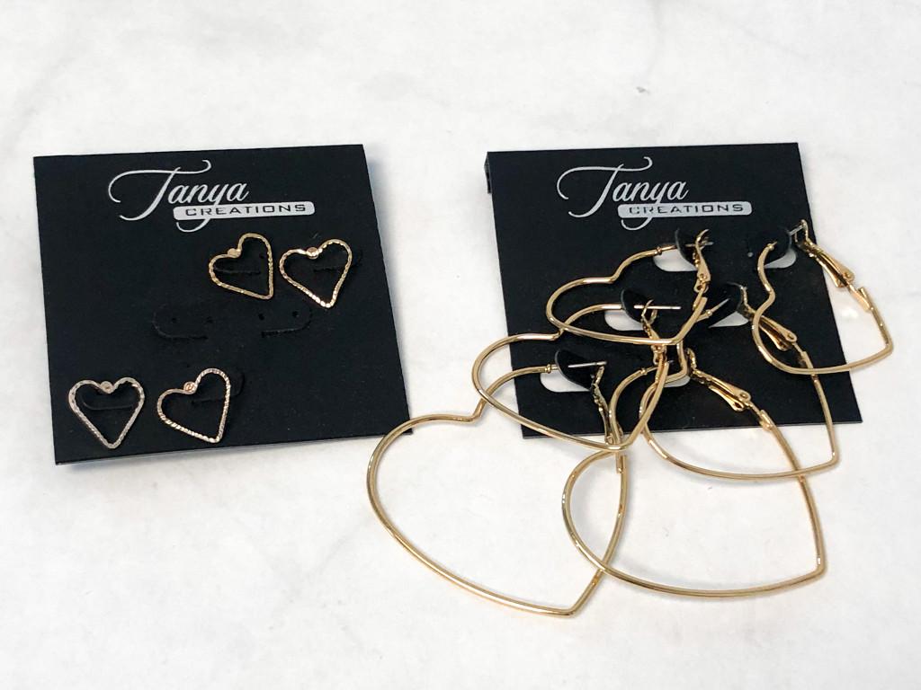 Heart Earrings Lot   5 Pairs