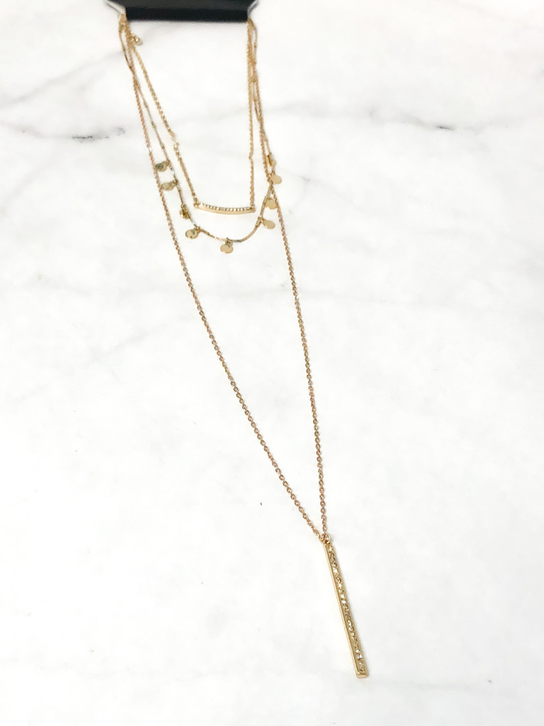 3 Layer Delicate Gold Necklace