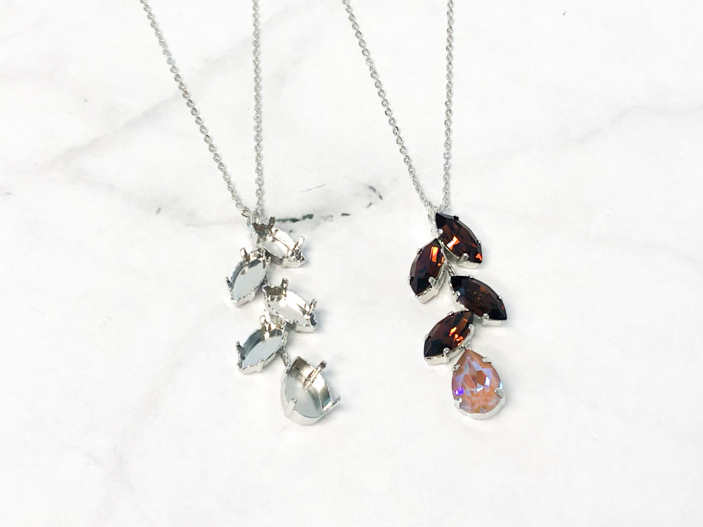 One of a Kind Finished Necklace and Empty Setting Necklace