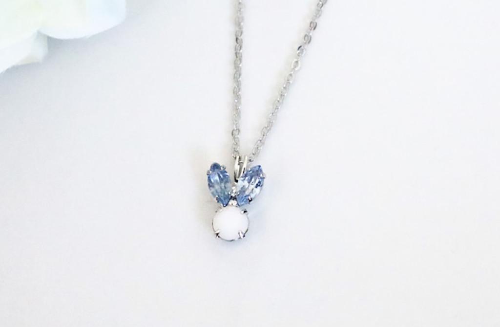 Small Blue Bunny Rhinestone Necklace | One Piece