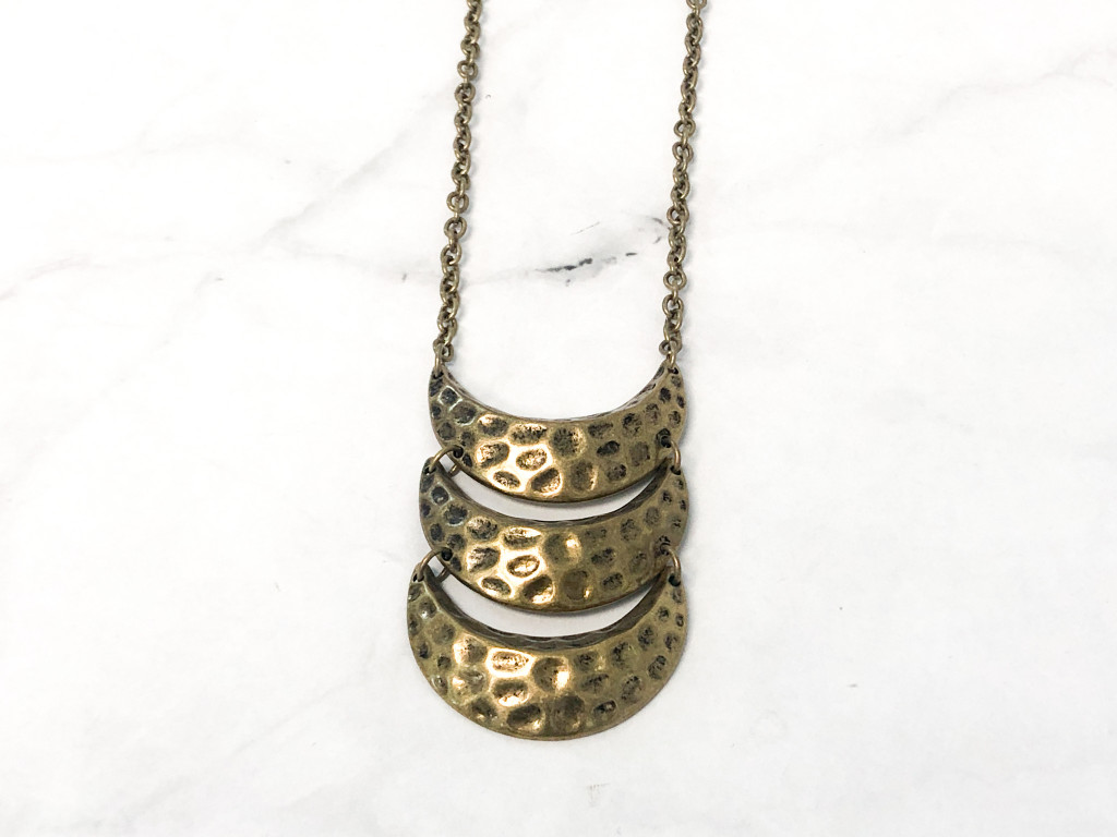 Target Boho Brass Crescent Necklace | MSRP 14.99