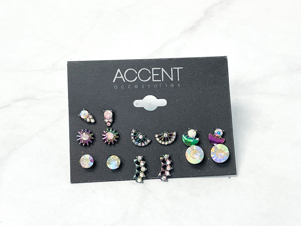 Accent Iridescent Earring Pack   7 Pairs
