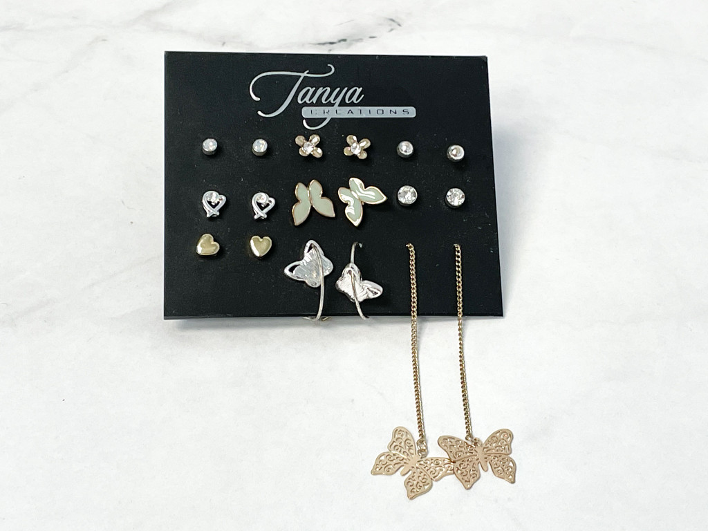 Butterfly Stud Pack | 9 Pairs