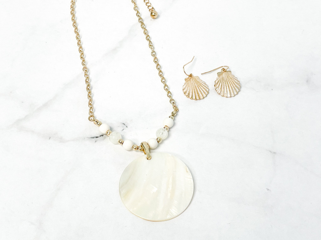 Shell Necklace and Earring Set