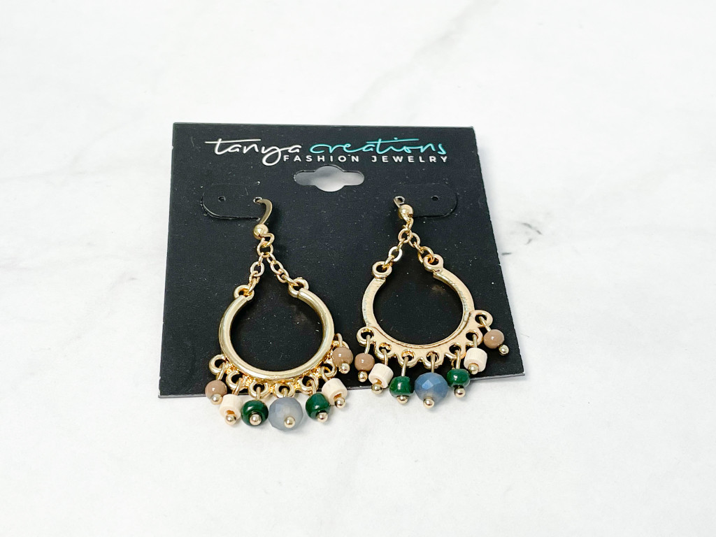Boho Gold Beaded Earrings