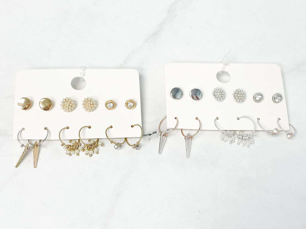 Darling Earring Pack   6 Pairs   Rhodium or Gold