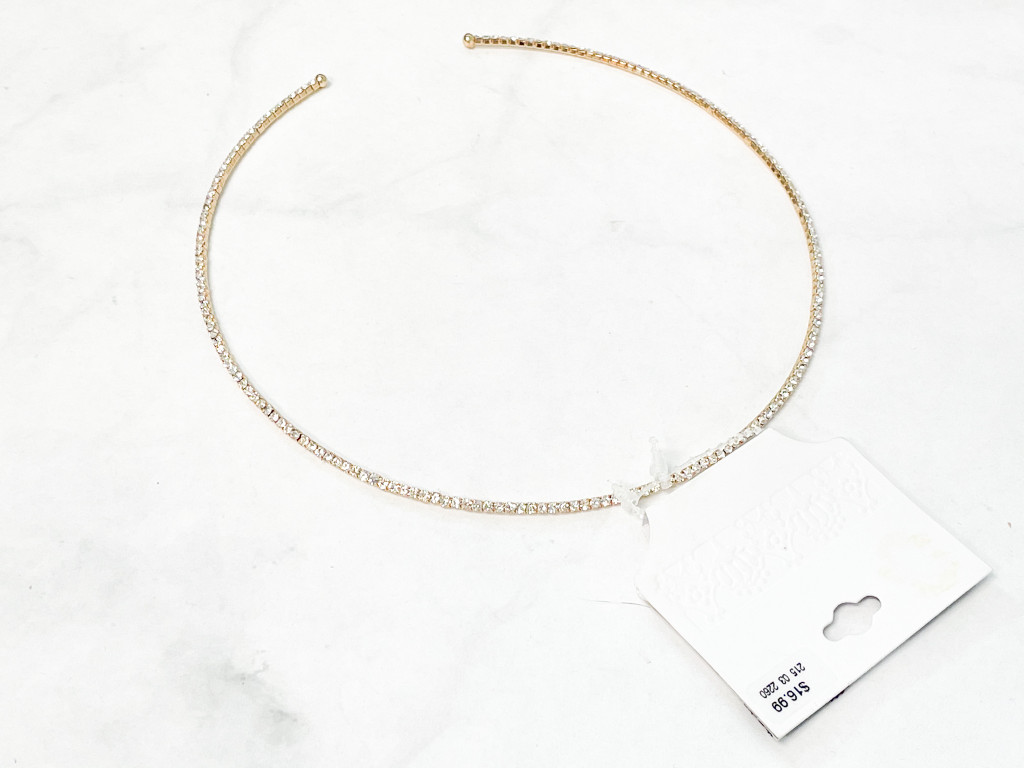 Target Gold Rhinestone Necklace | MSRP 16.99