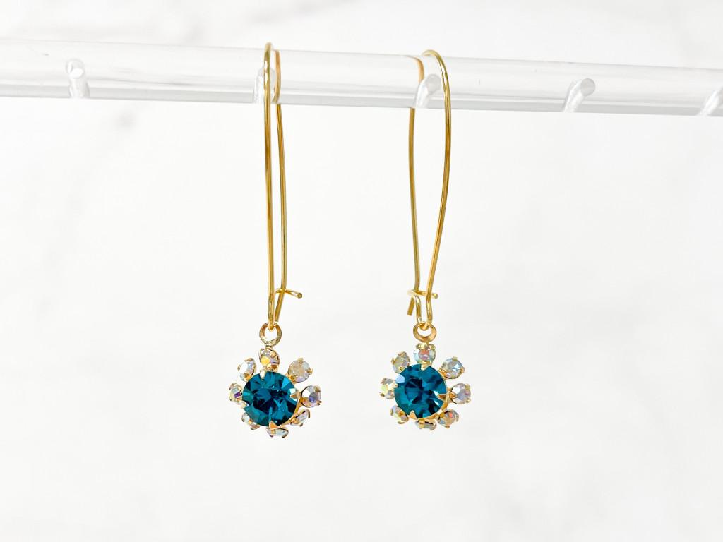 Floral Wire Earrings