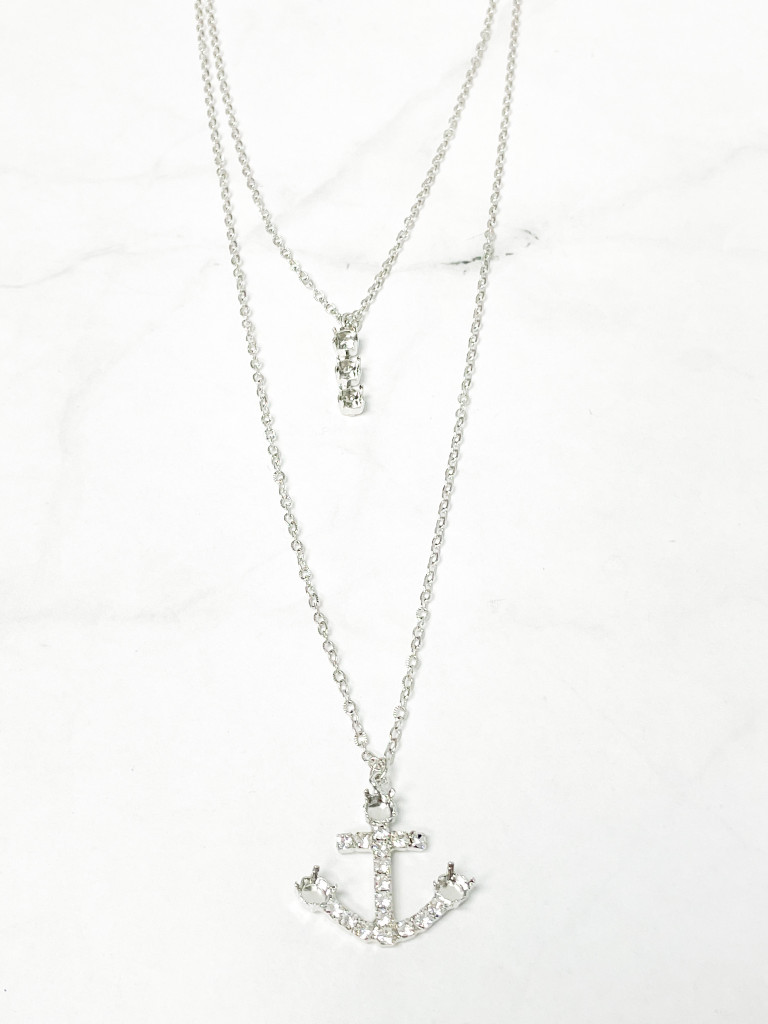 One of a Kind 2 Layer Anchor Necklace