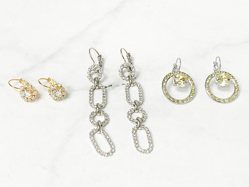 3 Pair Finished Earrings Lot