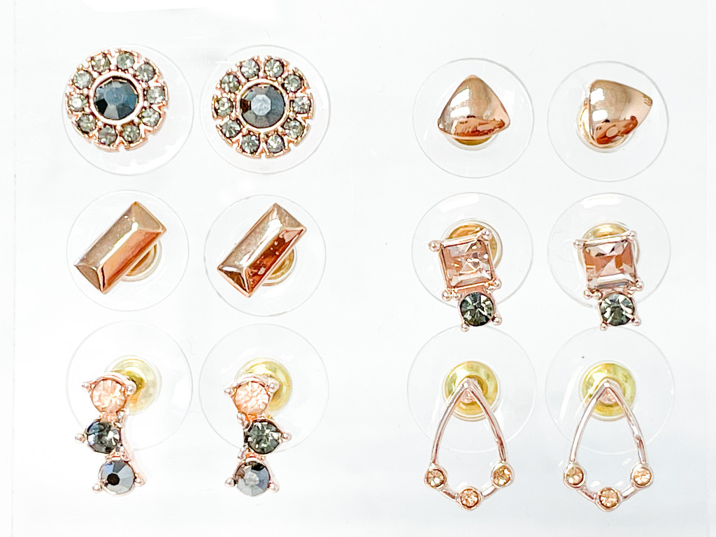 Fab and Fun Studs | 6 Pairs